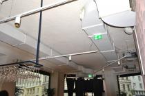 Brasserie Mae Aurel-Wien: Akustikspritzputz