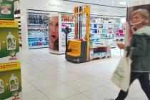 Trittschalldämmung im Supermarkt