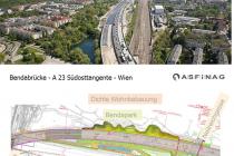 Bendabrücke - A23 Südosttangente - Wien
